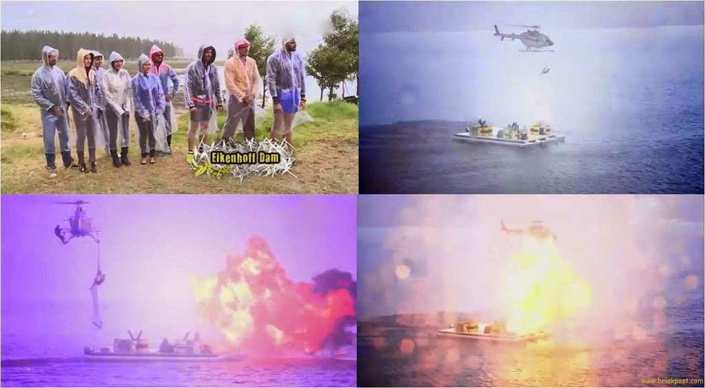 Fear Factor Khatron Ke Khiladi finalists Gurmeet and Rajneesh made their last fire blast in grand finale stunt, hanging on chopper