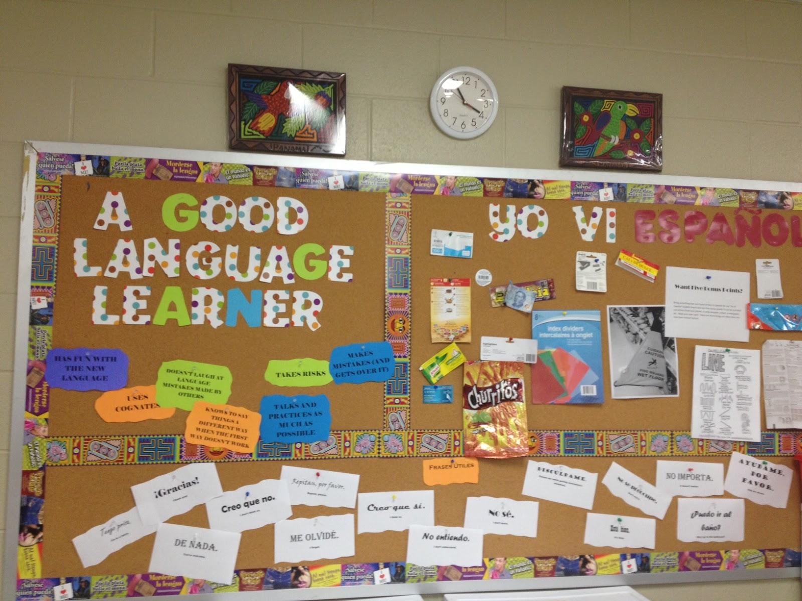 Classroom Ideas Esl ~ Yo vi espanol bulletin board ideas for the spanish classroom