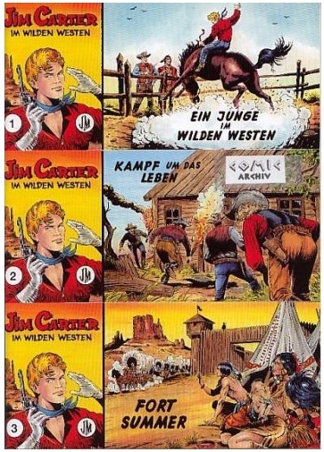 JIM CARTER 1-3 Western Piccolo Comic NEU