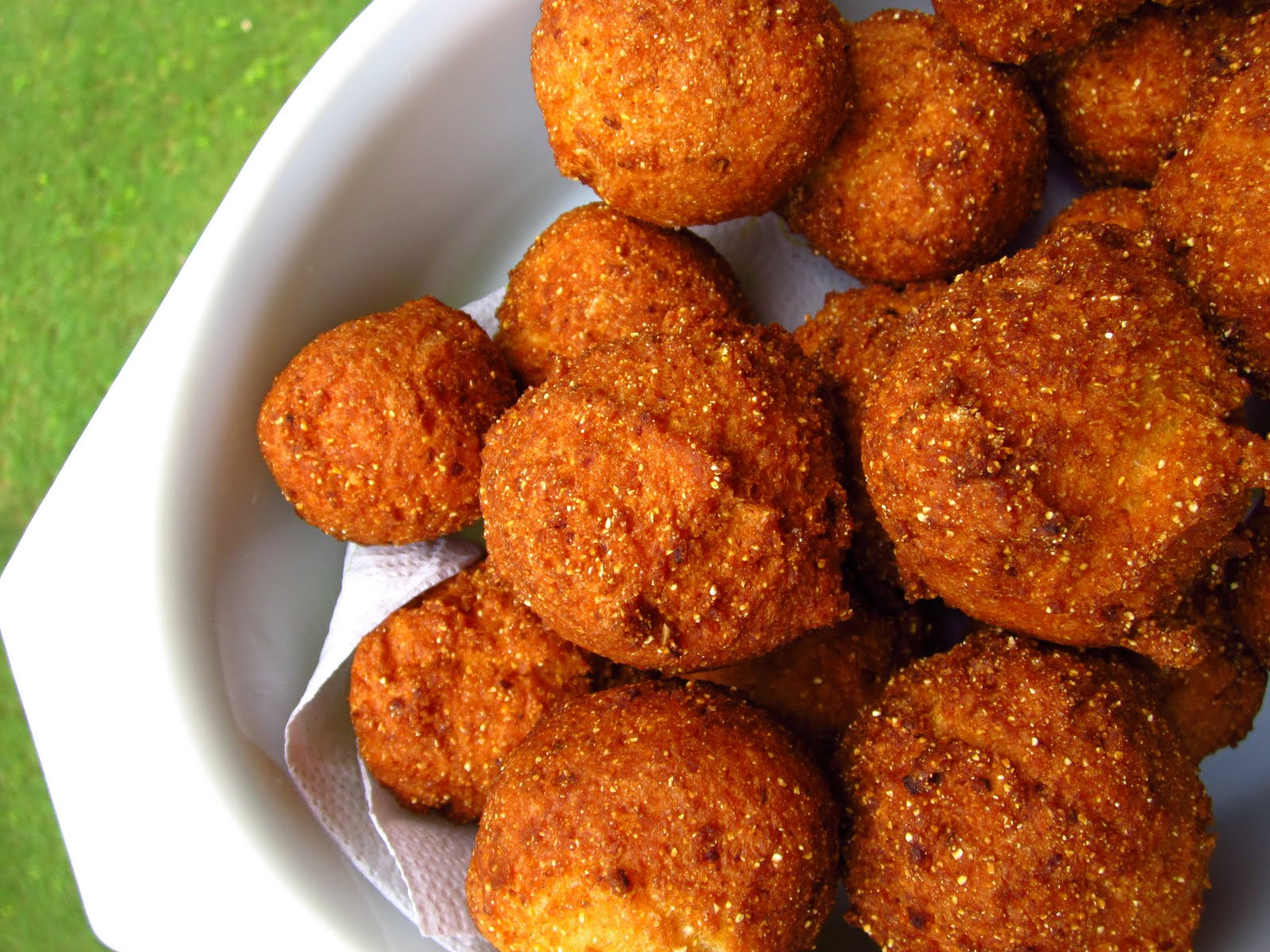 Dinner, Lunch and Gluten Free Hush Puppies!