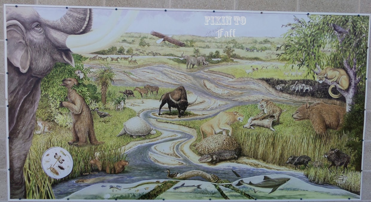 Waco Mammoth Site Visitors Center Mural