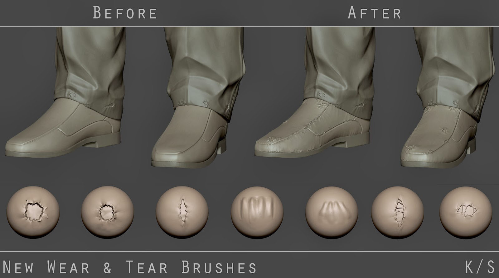 Download Zbrush Wear And Tear Brushes CG Daily News