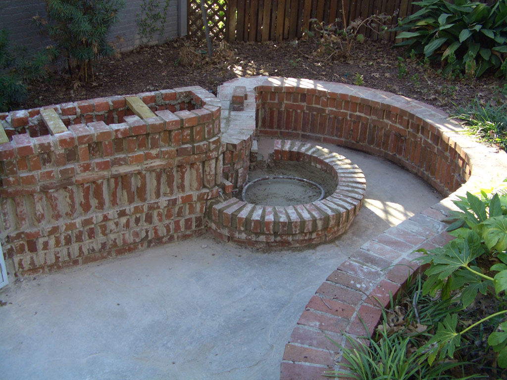Projects of zack booth simpson bbq area almost complete for Garden bbq area designs