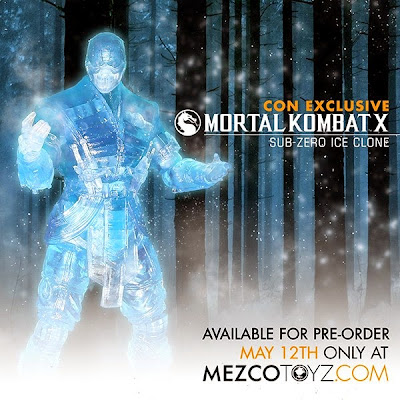"San Diego Comic-Con 2015 Exclusive Mortal Kombat X ""Ice Clone"" Sub-Zero Action Figure by Mezco Toyz"
