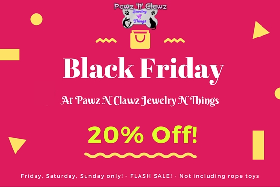 black friday sale on pet related jewelry and wood crafts