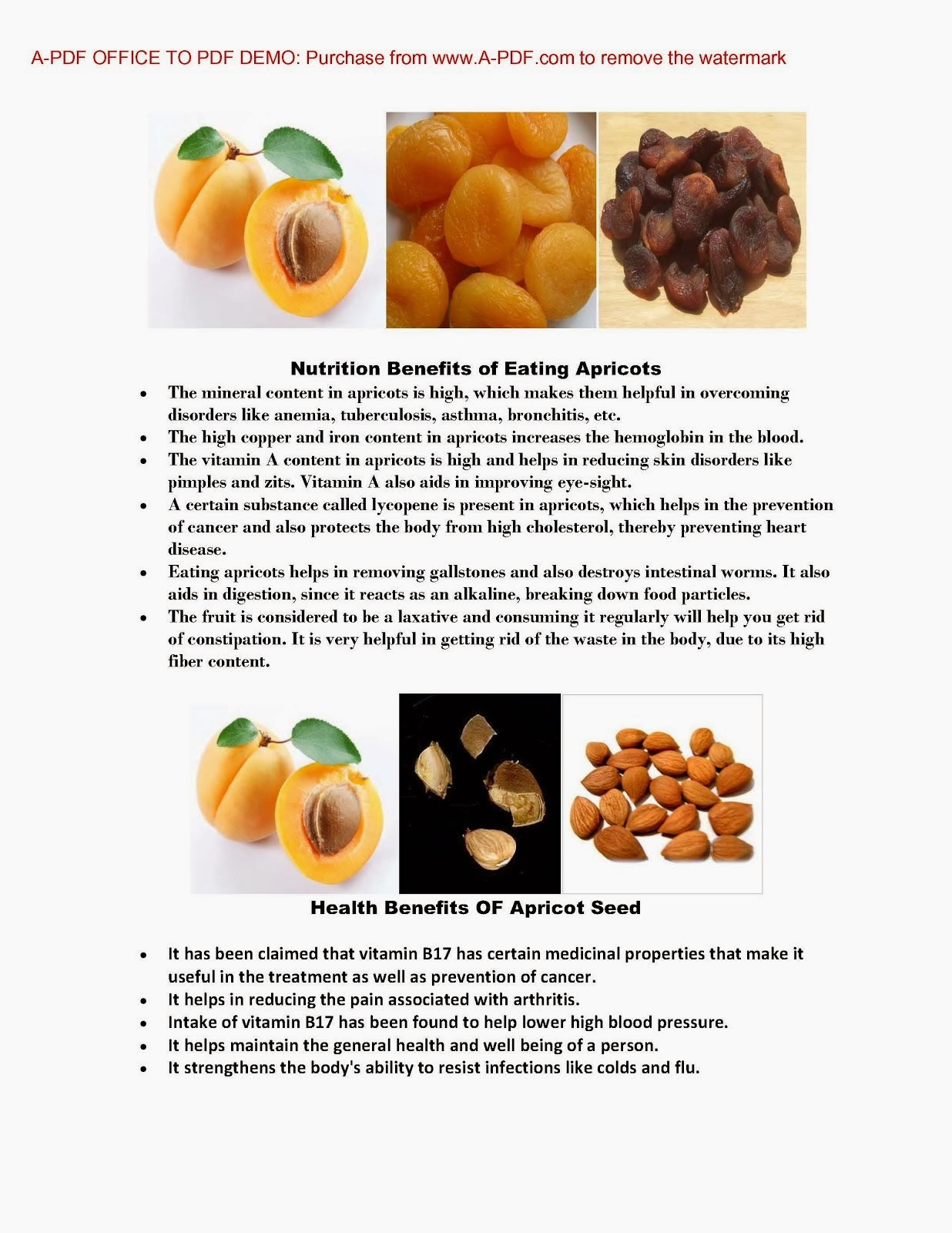 Benefit of Apricot