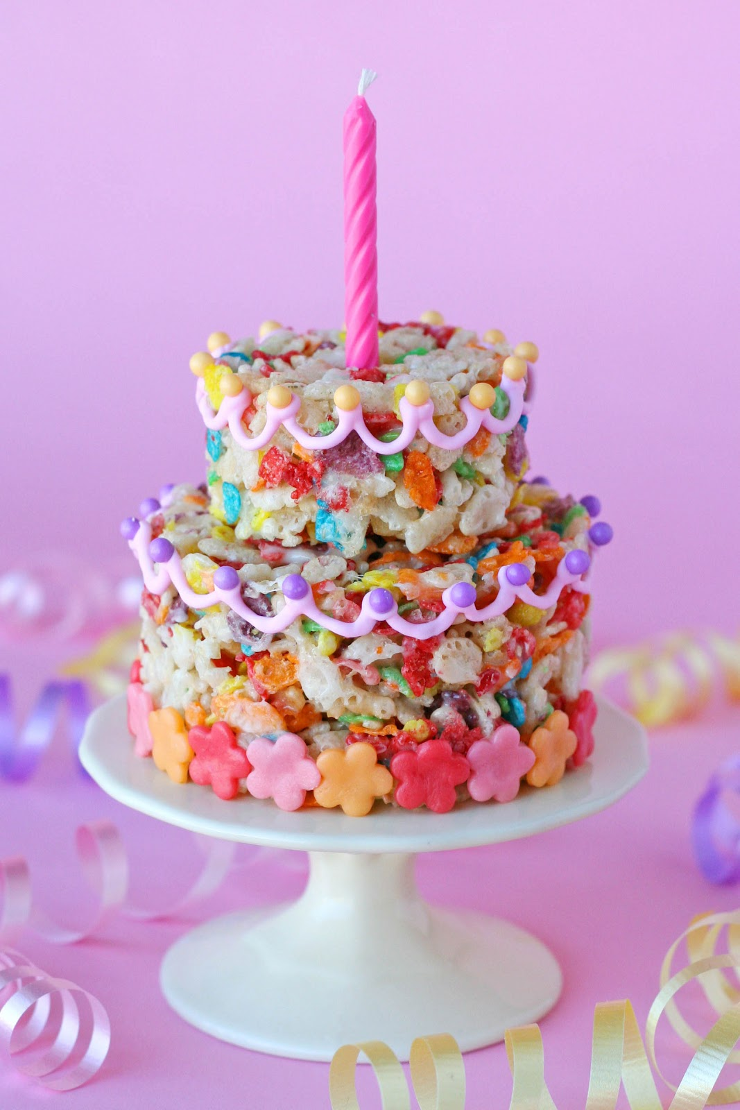 Fruity Pebbles Treats Cake Glorious Treats