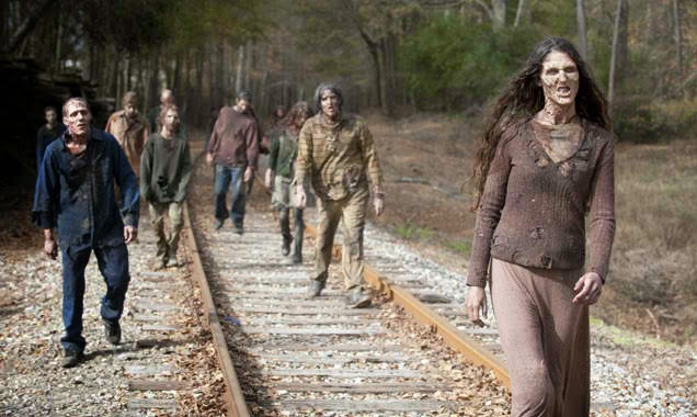 The Waking Dead's walkers and biters