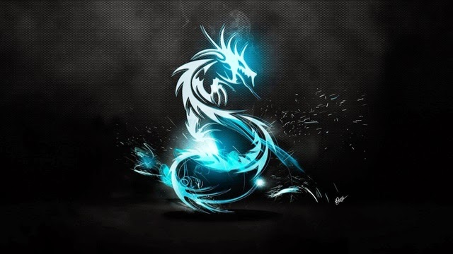 Glowing dragon Art HD Wallpaper
