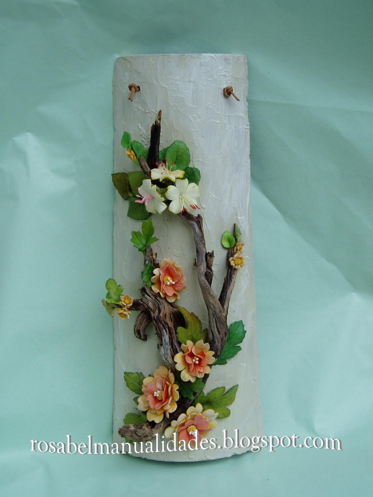 Rosabel manualidades tejas decoradas con pasta de porcelana - Rosabel manualidades ...