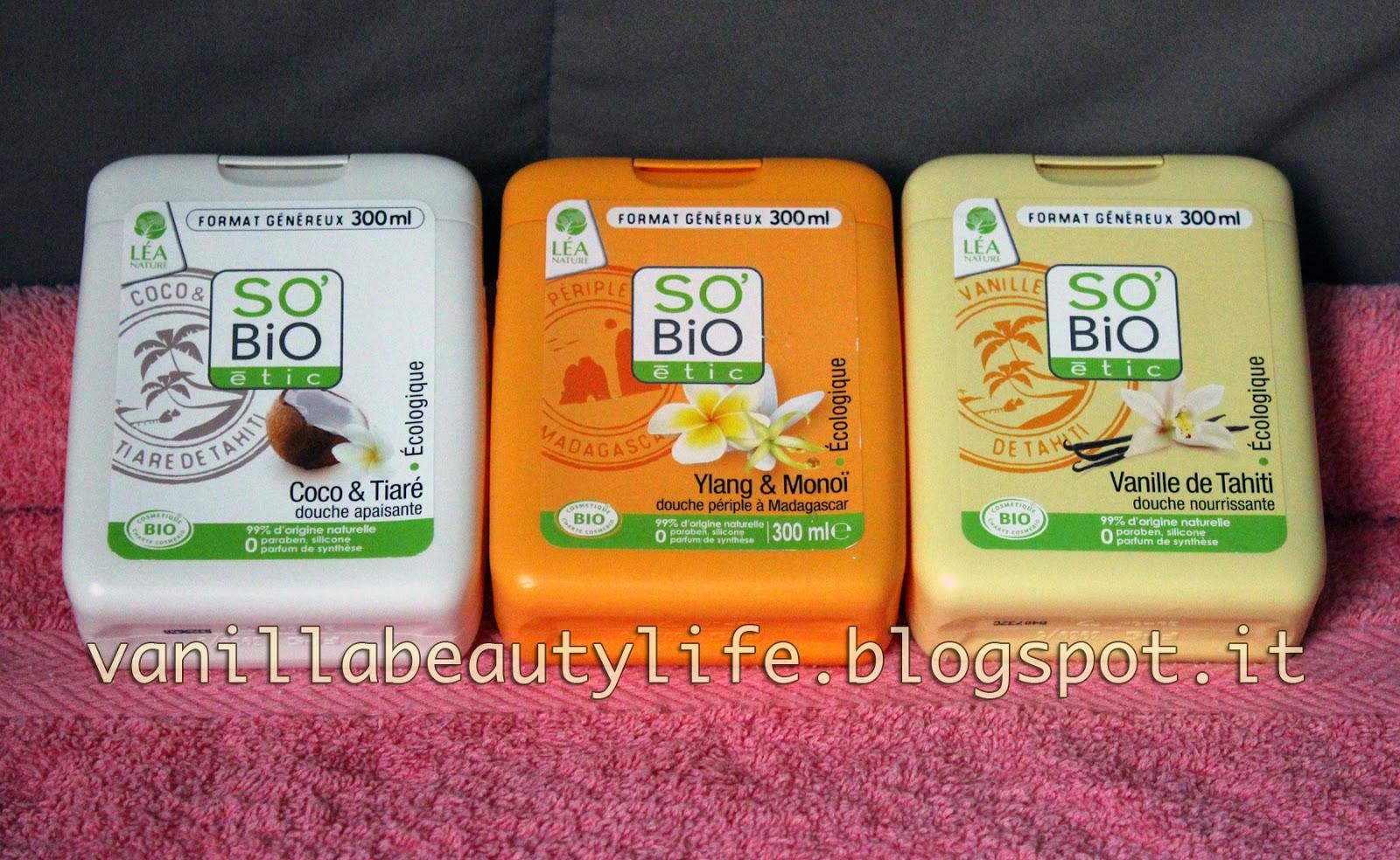 Bagnoschiuma Bio : Vanilla beauty: so bio Étic bagnoschiuma cocco & tiaré ylang e