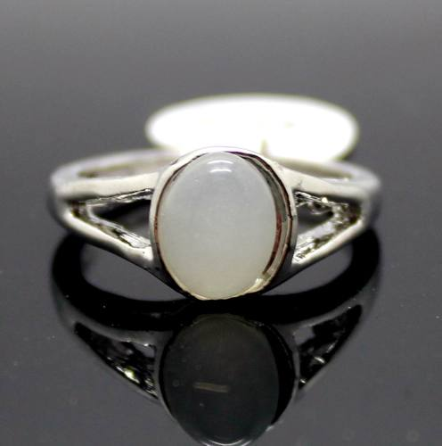 Women's Silver alloy Ring for Twilight Bella moonstone Wedding Ring Jewerly