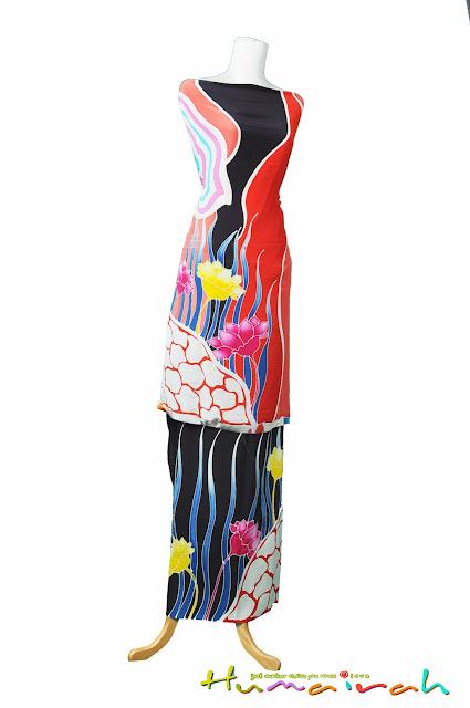Batik Sutera - Motif Lalang 2
