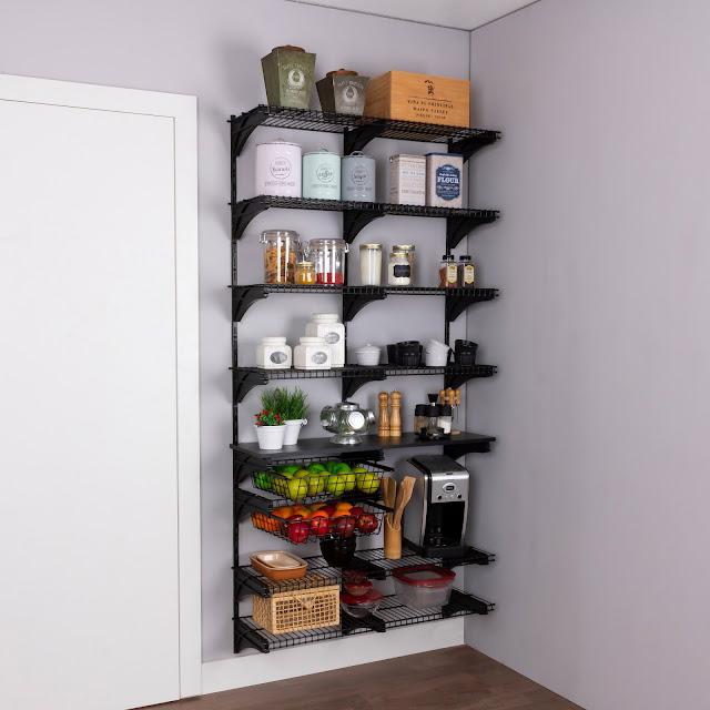 Armário aramado kit 37 - Cozinha e despensa média
