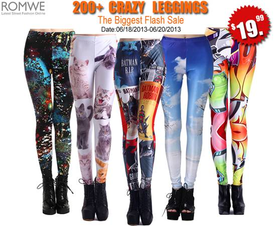 romwe legging flash sale