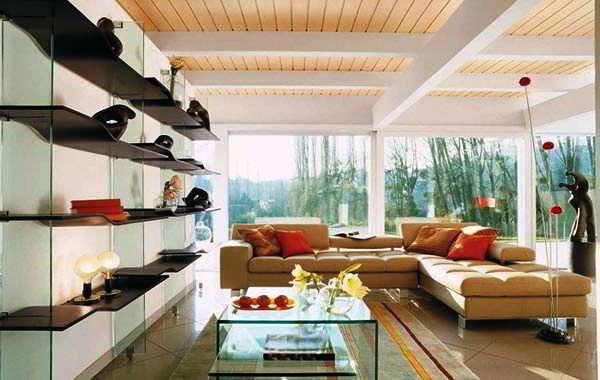 Sofa Santai Ruang Tamu Warna Coklat