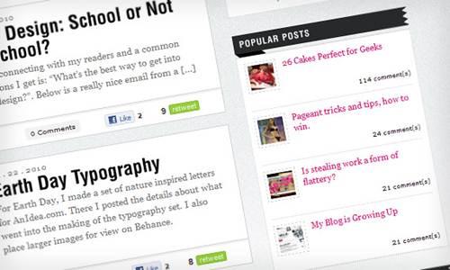 Widget Sidebar Blog Terpopuler