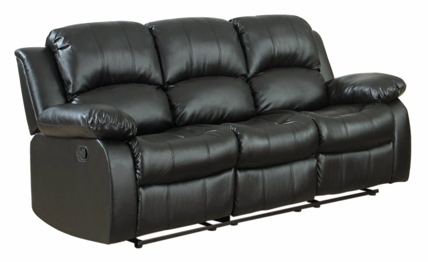 Cheap Black Leather Recliner Sofas