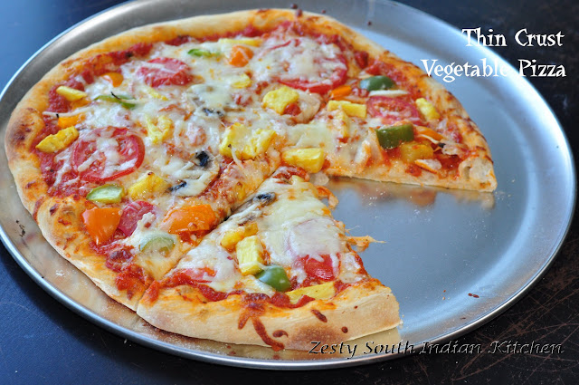 Thin Crust Vegetable Pizza: Best Pizza I ever made: Baking Partners ...