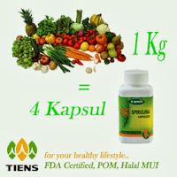 manfaat, fungsi, protein, spirulina, tiens, tubuh