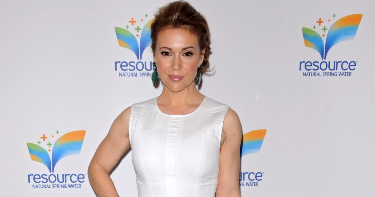 Alyssa Milano - Natural Spring Water Resource Launch Event | Just FAB ...