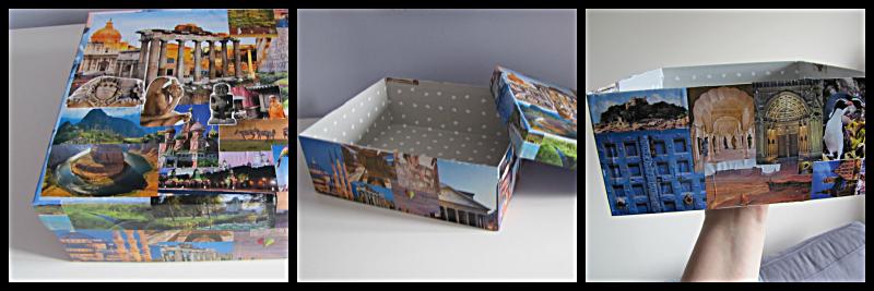 manualidad con las cajas