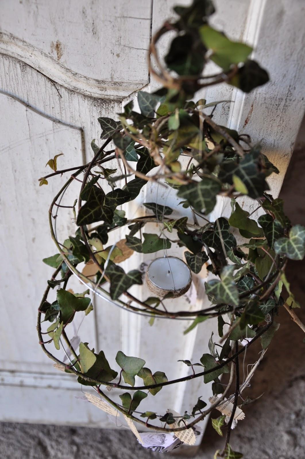 Il giardino del brocante: lampadario fai da te: fil di ferro ...