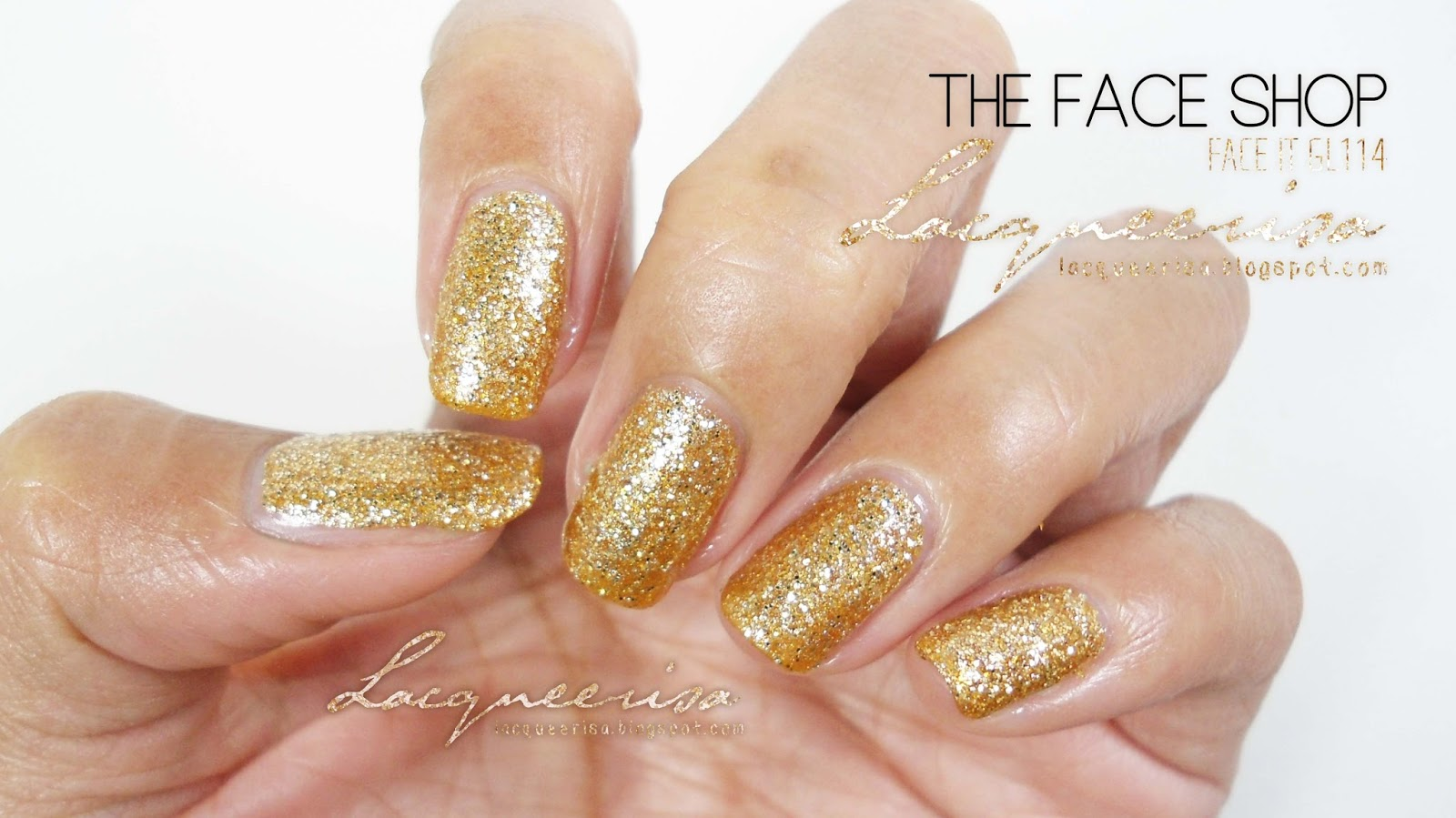 Lacqueerisa: The Face Shop GL114 (with topcoat)