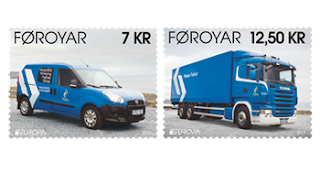 Faroe Islands: Europa 2013 - postal vehicles - www.posta.fo