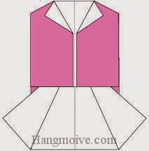 Bước 7: Hoàn thành cách xếp chiếc váy vest bằng giấy theo phong cách origami.