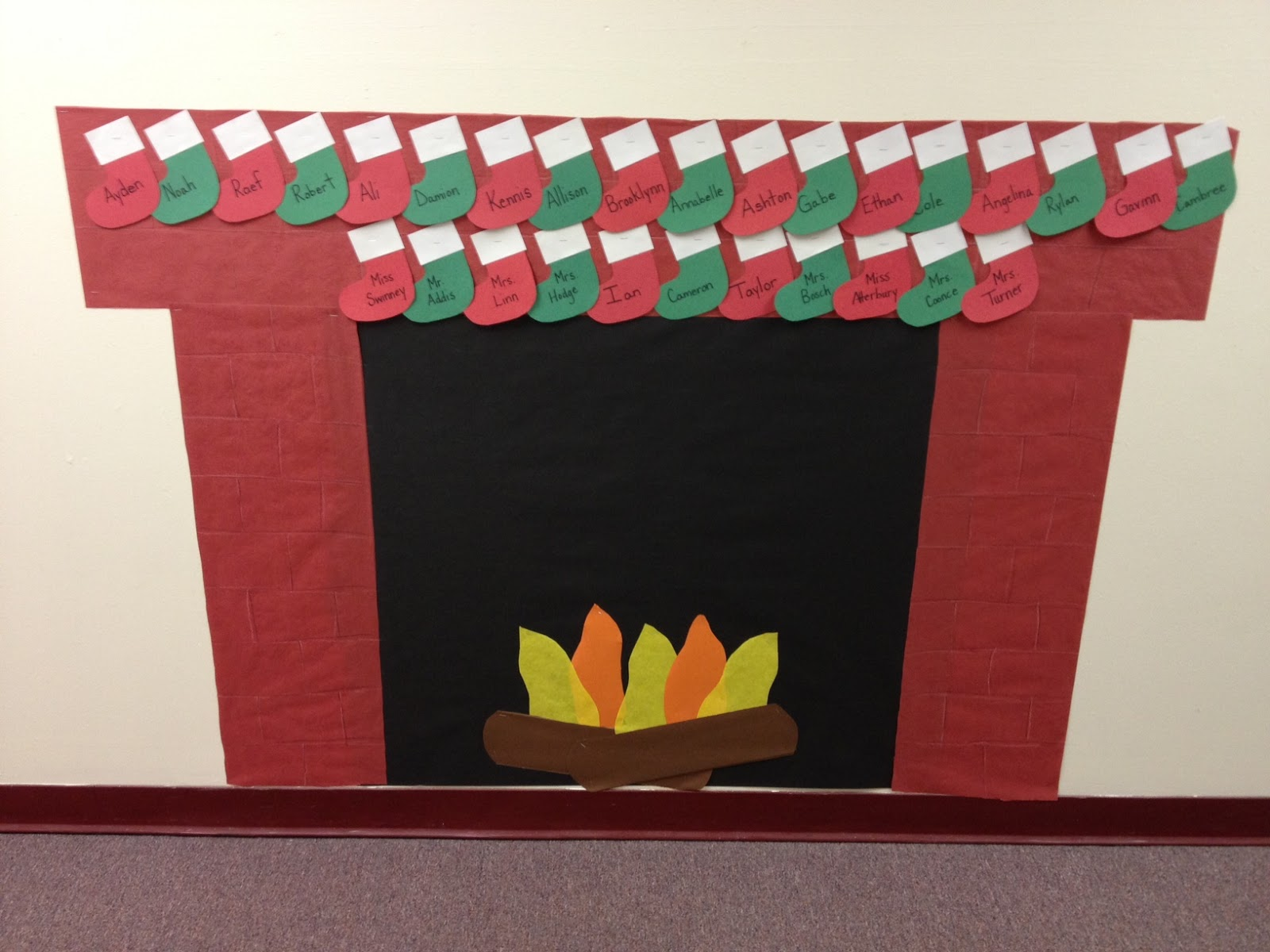 Mrs hodge and her kindergarten kids ornaments games and for How to make a bulletin board wall