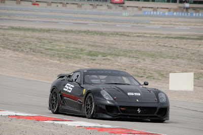 Black Ferrari 599XX on Track race