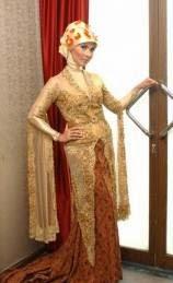 Contoh desain busana kebaya muslim modern simple