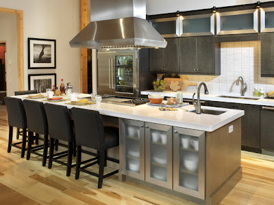 Kitchen Island Design Ideas on The Kitchen Is Designed  As All Spaces In The Home  To Handle Wear And