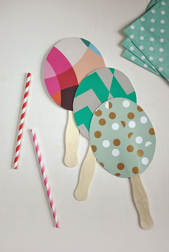 DIY craft tutorial: Paper fans