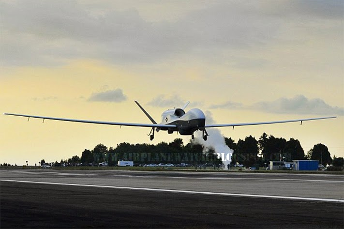 MQ-4C Triton Gigantic 737 Size Spy Plane Lands US Navy Super Drone