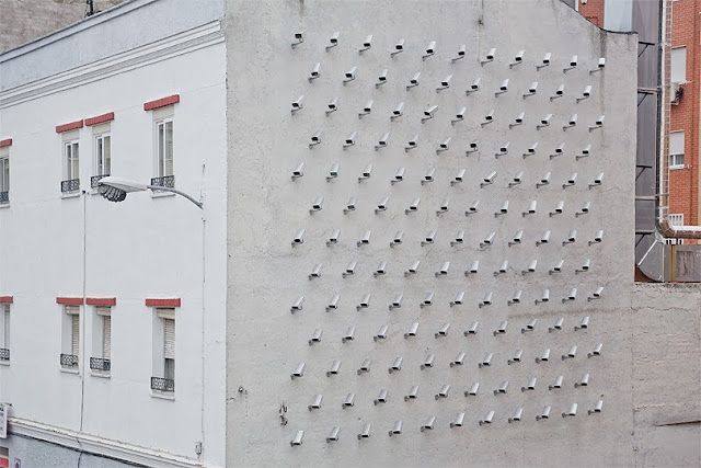 Spanish Street Artist SpY Installs 150 fake CCTV Cameras In Madrid, Spain. 1