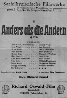 Diferente a los demás (1919), película gay / homosexual 3