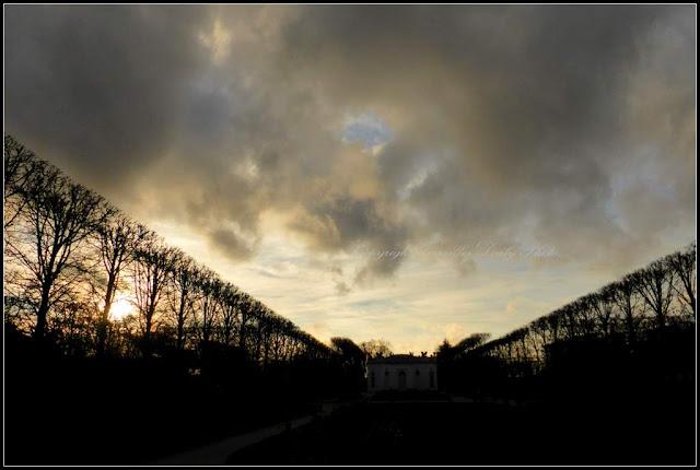 Winter sky Petit Trianon Pavillon Français Versailles