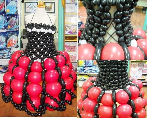 Φόρεμα από μπαλόνια by P.Kaskani