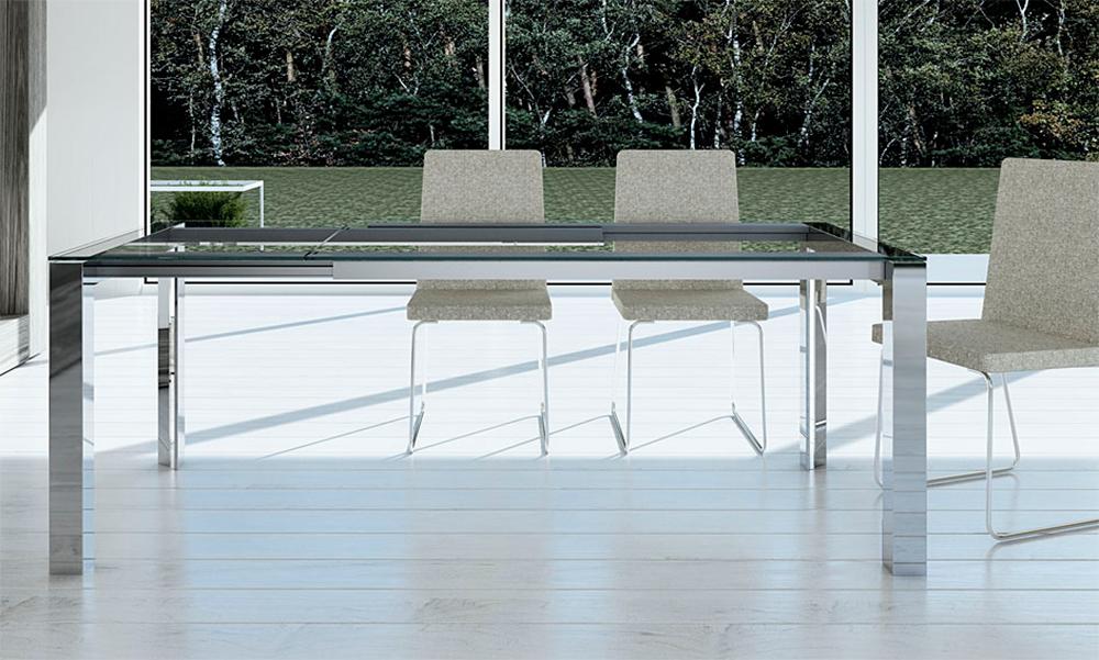 Mesas de comedor mesas de comedor extensibles de cristal - Mesas comedor extensibles modernas ...