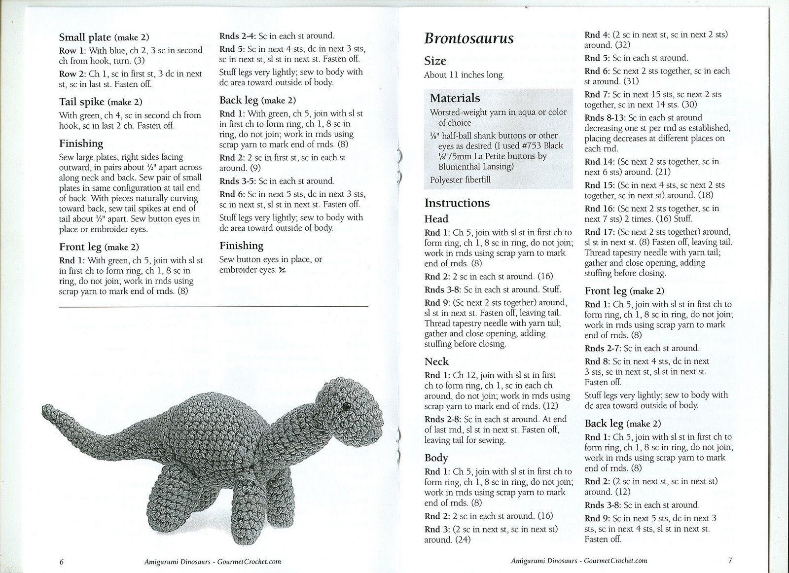 Vallegurumi: Dinosaurios en Amigurumi