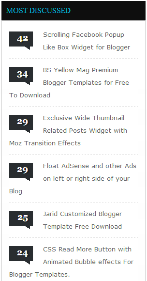 most discussed widget