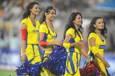 IPL Cheer Leaders of Chennai Super Kings (CSK) Team for IPL Live Matches