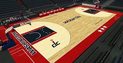 NBA 2K14 Wizards HD Court Mod