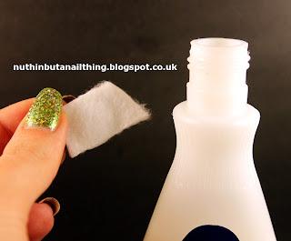 glitter polish removal tin foil trick