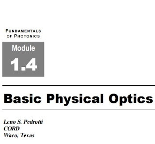Fundamentals of Photonics : Basic Physical Optics