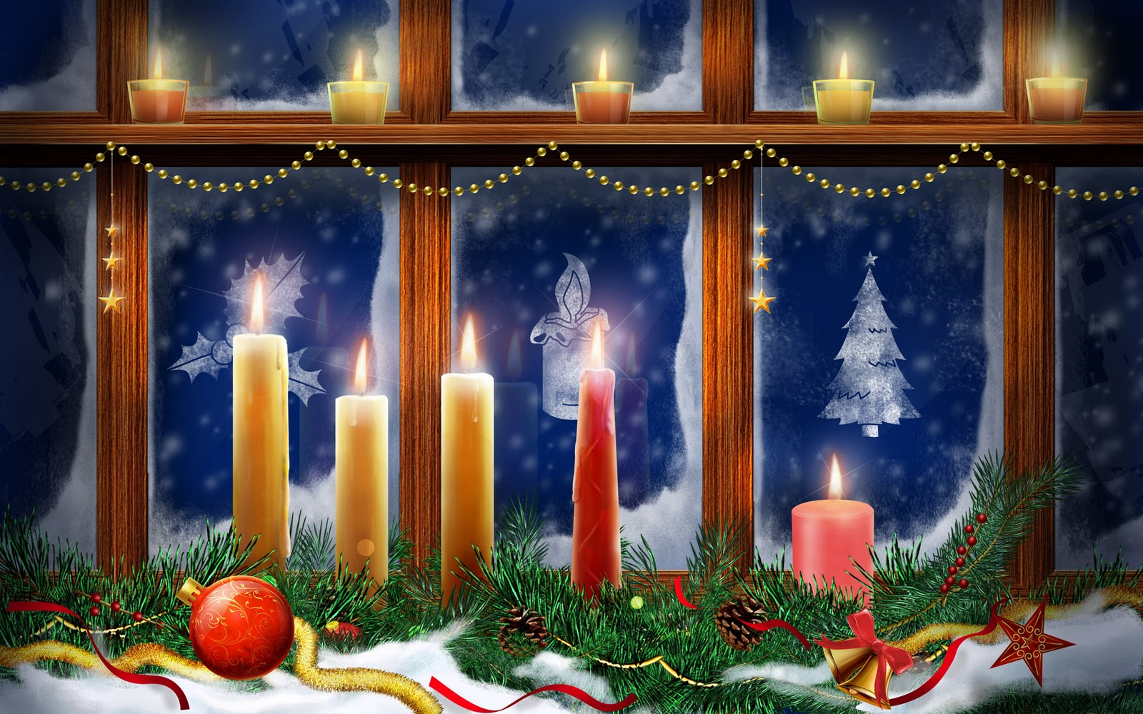 Free greeting cards download cards for festival for 7 candle christmas decoration