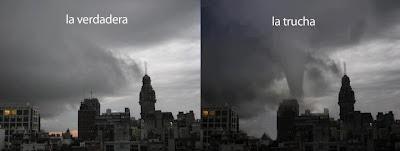 Montevideo Tormenta verdadera y trucha