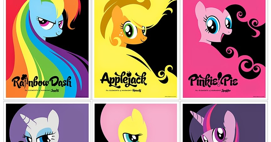 The Blot Says...: NYCC 14 Exclusive My Little Pony: Elements of Harmony  Print Set by Michael De Pippo